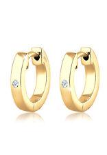 Creolen Basic Ohrringe Elegant 925 Silber natürliche Diamanten Diamore Neu