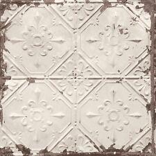 Tin Tile Wallpaper By A Street Prints Beige Copper -  FD22332