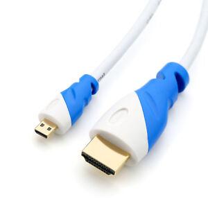 HDMI 3m Kabel micro HDMI Ultra HD 4K 2.0b HighSpeed Ethernet Weiß