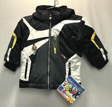 Obermeyer Boys Super G Snow Ski Winter Jacket Black Gray White Size Kids 4 NEW