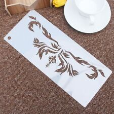 Flame Flower Reusable Stencil Airbrush Painting Art Cakes Spray Mould  Crafts