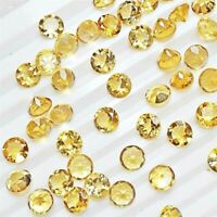 Wholesale Lot 5mm Round Facet Natural Citrine Loose Calibrated Gemstone Brazil
