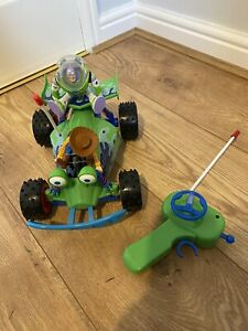 Toy Story Remote Control RC Car Woody Buzz Lightyear Figures Tested & Working