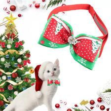 Christmas Pet Dog Cat Bowties Ties Holidays Diamond Bow Tie Collar Groomings