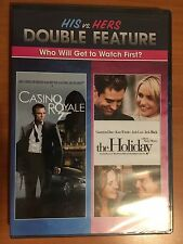 Casino Royale 007 & The Holiday (DVD, 2010) Double Feature - Brand New Sealed