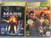 Mass Effect 1 and 2 (Microsoft Xbox 360 Video Games) Bundle Lot - Complete