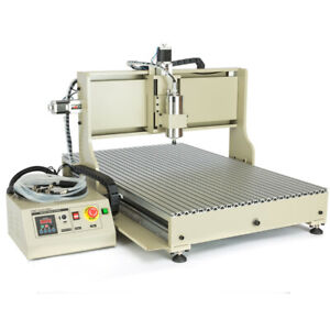 USB 4 axis 6090 CNC Router Engraver 3D Engraving Drilling Milling machine 1500W