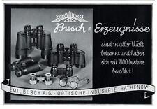 Busch Ferngläser Rathenow Reklame 1940 Fernglas Optische Industrie Werbung +