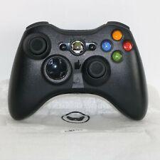 Offiziell Original Microsoft Xbox 360 (1403) Schwarz Kabelloser Controller Pad -