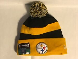 Original Pittsburgh STEELERS New Era Knit Hat NFL On Field New with Tag NOS