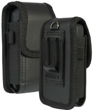 Black Leather Case Pouch Belt Clip for GreatCall Lively Flip Phone, Jitterbug