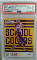 Ben Simmons 2016-17 Panini Contenders Draft Picks School Colors #1 PSA 10 GEM MT