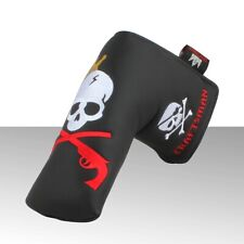 Craftsman New Magnetic Closure King Skull Embroideried Black Blade Putter Cover