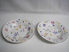 Totally Today China TWO Cereal Salad Dessert Bowls  Rare Floral Pattern EUC