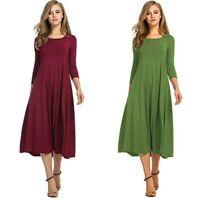 Women's Praise Liturgical Dancewear Adult Plain Lyrical Dress Long Sleeve Gown