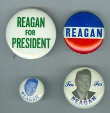 4 California Governor Ronald Reagan for President Pinbacks