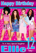 LITTLE MIX !!  LARGE A5 Personalised Birthday Card!! ANY NAME & AGE GREAT !!!!!