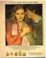 Publicité Advertising 1978 Bijou La médaille d'Amour