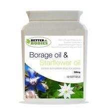 Starflower Oil (aceite de borraja) 500mg 50 Cápsulas Botella mejor organismos