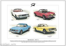 TRIUMPH STAG 1970-77  Fine Art Print A3 size - MkI MkII Third Phase V8 Sportscar