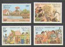 Laos 1990 New Year Customs/Elephant 4v set (n21171)