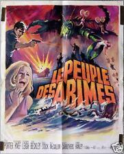AFFICHE ANCIENNE CINEMA FILM LE PEUPLE DES ABIMES