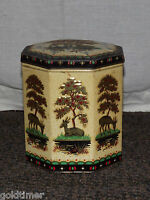 VINTAGE PEEK FREAN LONDON ENGLAND DEER TREES BISCUIT TIN