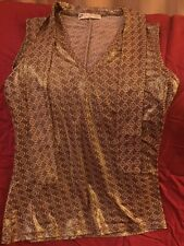 O by JUS D'ORANGE PARIS Gold Top Sz Small