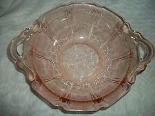 JEANNETTE ORIGINAL PINK DEPRESSION GLASS CHERRY BLOSSOM OPEN HANDLE BOWL