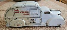 1950's Original Pressed Steel Luis Marx City Sanitation Truck