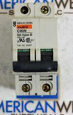 Merlin Gerin 24517 Din Rail C60N Multi9 2A 480 volt  2P Circuit breaker type D