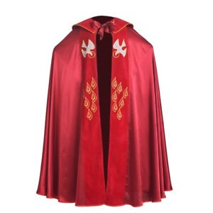 Christian Catholic Bishop Birds IHS Embroidery Red Cope Cape Cloak Vestment