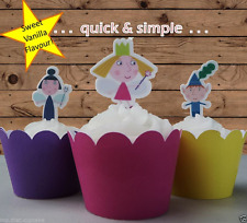Ben and Holly Edible Wafer Stand up Cupcake Cake Toppers