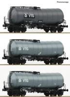 Roco 76126 HO Gauge VTG Bogie Slurry Wagon Set (3) V