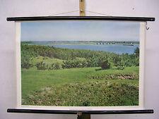 Schulwandkarte Wandkarte Narew Polen Polska Fluss Landschaft FotoBild 75x51cm