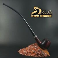 "BALANDIS ORIGINAL Handmade PEAR WOOD Tobacco SMOKING PIPE ""CHURCHWARDEN"" RUBIN"