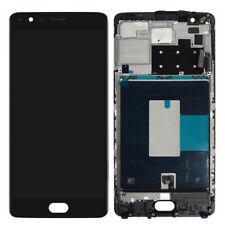 BLACK LCD Touch Screen Digitalizzatore Montaggio Con Telaio Per OnePlus 3 3 T A3000 3003