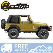 Bestop Trektop NX Black Twill 97-06 Jeep Wrangler TJ Tint Windows No Doors