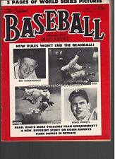 1953 Original Baseball Magazine with Red Schoendienst and Phil Rizzuto Cover