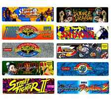 Mini Marquee Vinyl Stickers - Set of 10 - FIGHTER Retro Arcade Game Theme Bundle