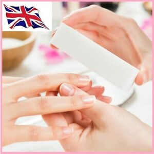 NAIL ART BUFFER ACRYLIC SANDING BLOCK FILES WASHABLE SOFT SPONGE WHITE & PINK
