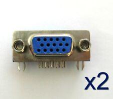 2x Connecteur à souder HD15 VGA femelle/ 2x Female VGA 15 pins connector to weld