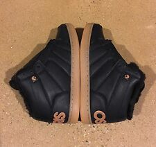 Osiris Convoy Mid Shearling Size 7.5 US Black Work BMX DC MOTO Skate Shoes
