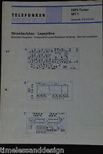 Telefunken Service Hifi Tuner MT 1 Schaltplan Lagepläne