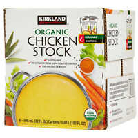 Kirkland Signature Expect More Organic Chicken Stock, 32 fl oz, 6-count