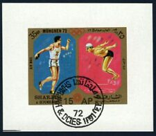 Sharjah 1972 souvenir sheet sports USED Mi  CV < $5.00 180114059