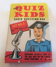 Vintage Quiz Kids Radio Question Bee No. 3 Cards Complete Directions 1945