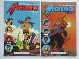 MECHANICS #1 & 2 (1985) FANTAGRAPHICS COMICS ALAN MOORE INTRO LOVE & ROCKETS!