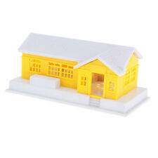 1:87 Scale Yellow Building House for HO Gauge Model Train Scenery Diorama