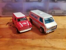 Hot Wheels Set Of 2 Service Cars, Ambulance Super Van & Austin Mini Van